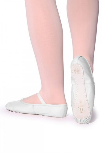 White Leather Ballet Shoe OPHELIA